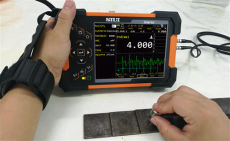 SIUI Smartor Thickness Measurement on a step block