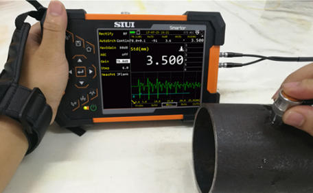SIUI Smartor Thickness Measurement on a Tube