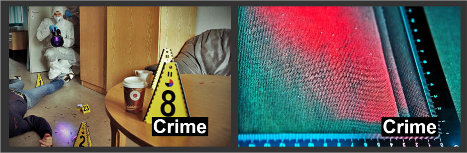 Labino UV Lights used for Crime and Forensic Applications