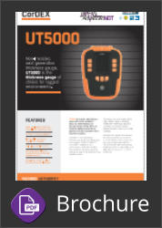 Cordex UT5000 Intrinsically safe Ultrasonic Thickness Gauge Brochure Button