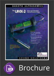 Dakota Ultrasonics UMX-2 Underwater material and coating thickness gauge Brochure Button