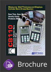 CB110 Sidewinder Sonic Thickness Gage Brochure Button