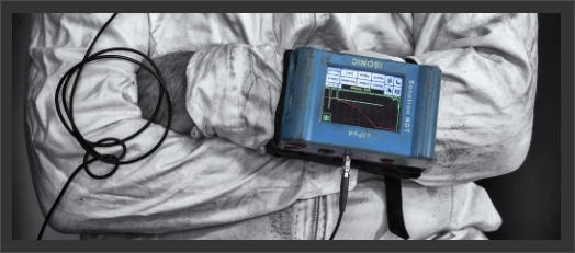 Sonotron ISonic utPod ultra portable ultrasonic flaw detector worn on the wrist for handsfree operation