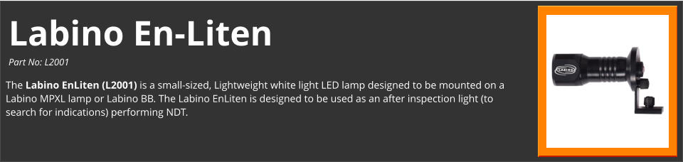 Labino EnLiten White Light LED After Inspection Light