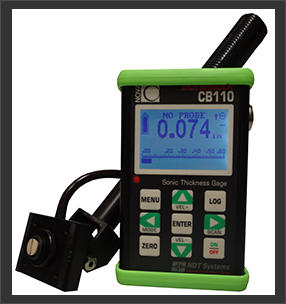 CB110 Sidewinder Sonic Thickness Gage used for automotive applications